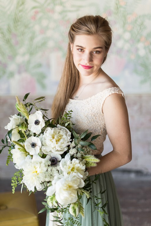 White Flowers, Anemones, Peonies, Queen Annes Lace, Bunny Grass, Maiden Hair, Italian Ruscus, Tulips